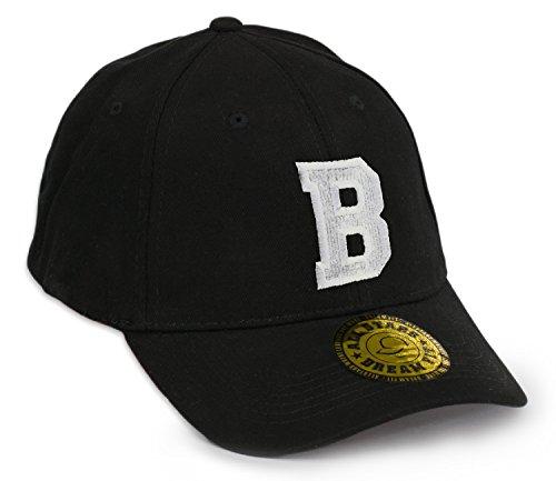 Unisex Snap Back Cap Flex fit Kappe Baseball Damen Herren HUT Mütze Caps Gothic 3D A-Z Snapback (L/XL, B)