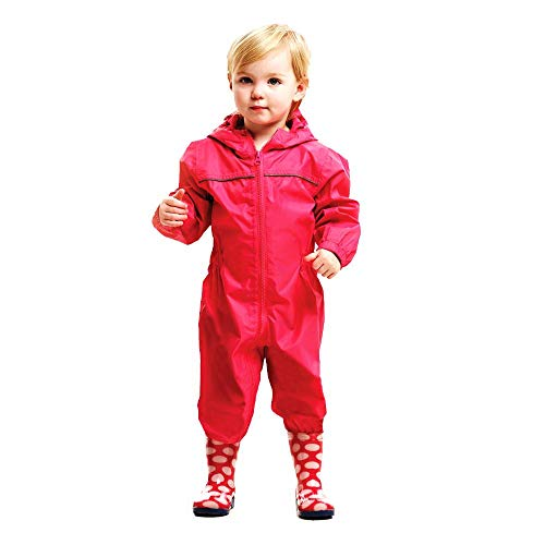 Regatta Kids Paddle Rain Suit - Jem Pink, Size 2 - 3