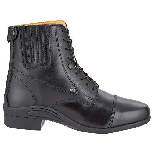 SUEDWIND FOOTWEAR Paddock Stiefelette »ULTIMA© BZ LACE« aus robustem Rindsleder | Designt in USA | Reit-Schlupf-Schuh mit Komfort-Gummisohle | Reißverschluss | OrthoLite© Innensohle | Farbe: Schwarz | Größe 40
