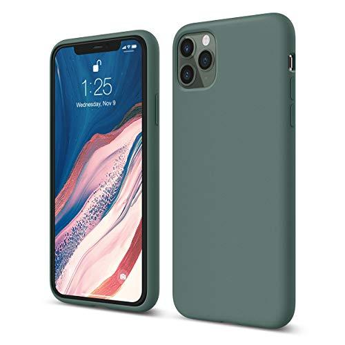 """elago Funda iPhone 11 Pro MAX Compatible con Apple iPhone 11 Pro (6.5"""") - Premium Silicona, Protección Estructura de 3 Niveles, Borde Elevada para Pantalla y Cámara (Verde Noche)"""