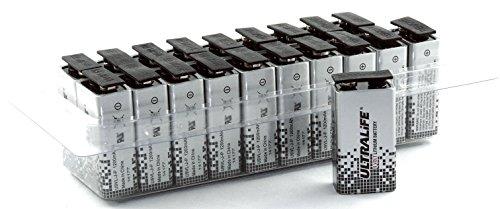 Vitamed Matthias Quinger Ultralife Lithium Batterie (9 Volt, E-Block, U9VL, U9VL-J-P, 1200mAh) in 20iger Box