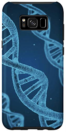 Galaxy S8+ human DNA medicine chemistry microscope close-up blue black Case