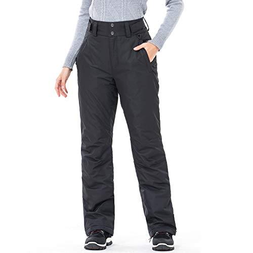 Sportneer Womens Snow Pants Insulated Ski Pants Snowboard Pants Black M