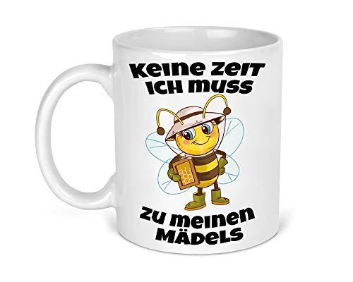 Tasse Kaffeetasse Kaffeebecher Becher Kaffee mit Imker Honig Wabe Imkerei Bienen Beidseitiger Druck
