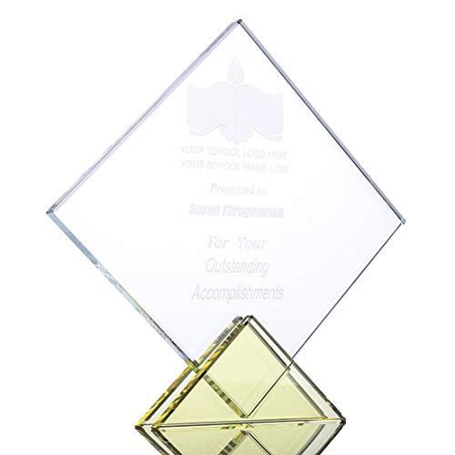 H&D - Trofeo de cristal con grabado personalizado