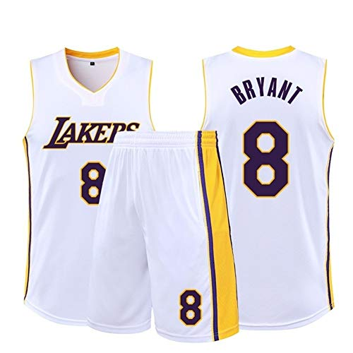 W&F Kobe Bryant # 8 Herren Basketball Trikots Set - Los Angeles Lakers - atmungsaktive ärmellose Sportbekleidung Weste (Color : B, Size : XS)