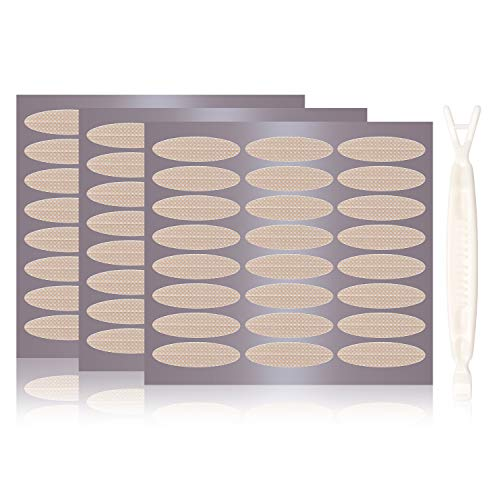 Breathable Fiber Single Side Eyelid Tape Stickers-Perfect for Hooded, Droopy, Uneven, or Mono-eyelids-Instant Eye Lift Without Surgery(288 Pairs, Wide)