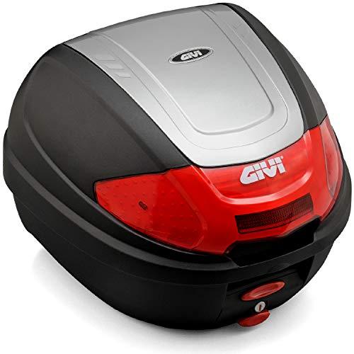 GIVI (ジビ) バイク用 リアボックス 30L シルバー レッドレンズ モノロックケース E300N2G730 76881