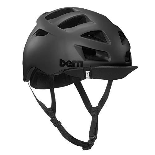 BERN, Allston Helmet with Flip Visor, Matte Black, Medium