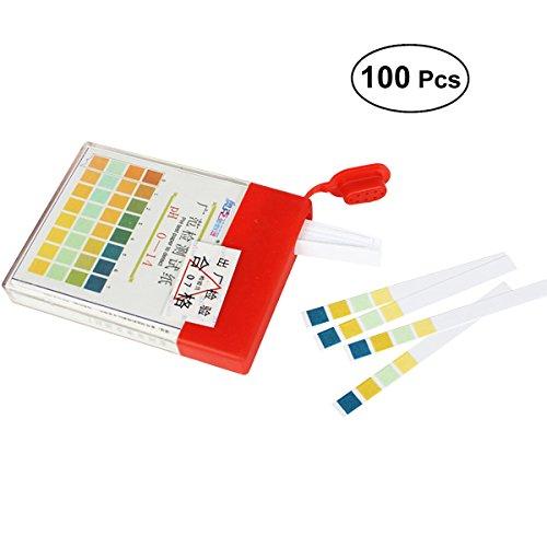 OUNONA Bandes de Test PH 0-14 Quatre Couleurs de Reconnaissance Liquide Rapide et Précis 100 Pièces