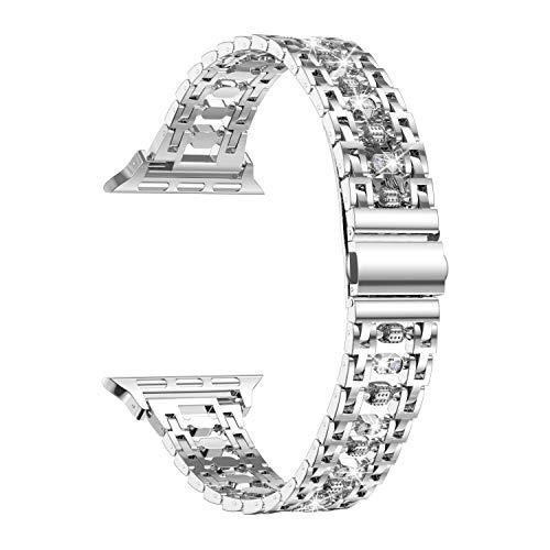 Apple Watch Series 5 (GPS + Cellular) 44mm Edelstahl silber mit Sportarmband weiß (MWWF2FD)