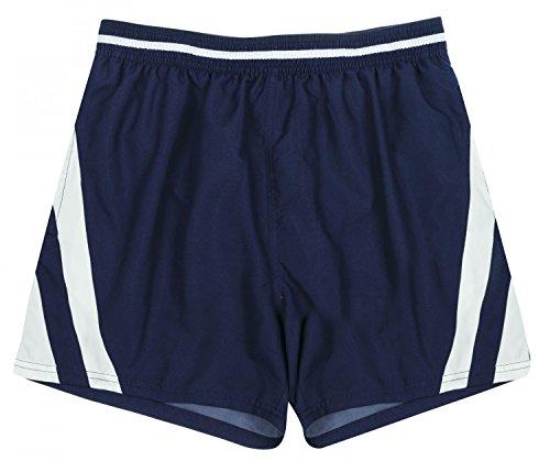 Olympia Badeshorts Boardshorts Strandshorts Shorts Badehose Marine weiß ÜBERGRÖSSEN L - 8XL, Farbe:Marine, Grösse:8XL - 18-68