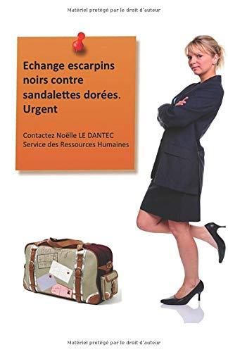 Echange escarpins noirs contre sandalettes dorées. Urgent: Contactez Noelle LE DANTEC, Service des Ressources Humaines