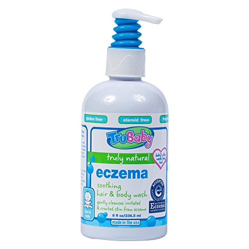 TruBaby Eczema Soothing Hair and Body Wash - Gently Cleanses and Moisturizes Sensitive Skin, Unscented, 8 oz