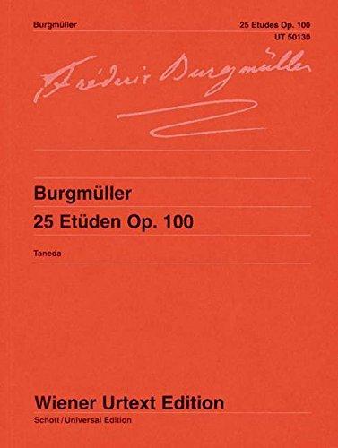 25 Etüden: Nach der Erstausgabe editiert. op. 100. Klavier. (Wiener Urtext Edition)