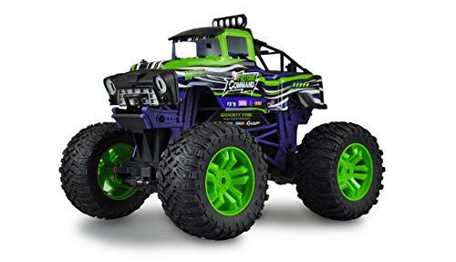 Amewi 22476 Green Command Big Monstertruck - Coche teledirigido (Escala 1:10), Color Verde