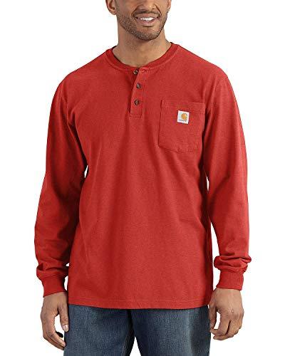 Carhartt Men's Workwear Pocket Henley Long-Sleeve Shirt (Regular and Big & Tall Sizes)