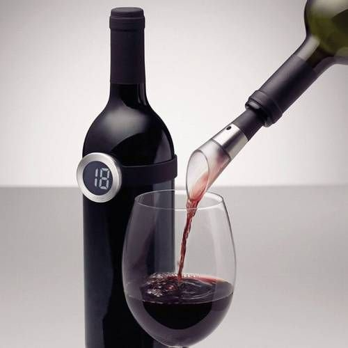 Weinset Dekantierungsausgiesser und Weinthermometer