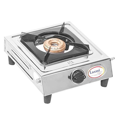 Generic Stainless Steel 1 Burner ISI Approved LPG Gas Stove Silver