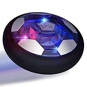 ⚽UPGRADED INDOOR SOCCER HOVER BALL: Hover soccer toy equips with powerful motor that allow you to play in various ways cause it can slide on any smooth surface, which can help to train kids' ability of playing football and develop a good habit of exe...