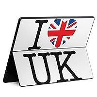 igsticker Surface Pro X 専用スキンシール サーフェス プロ エックス ノートブック ノートパソコン カバー ケース フィルム ステッカー アクセサリー 保護 000862 ユニーク 国旗 イギリス