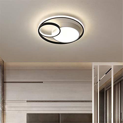 Luz De Techo Moderna LED,Lámpara De Techo Regulable Para Salón Con Control Remoto Pantalla De Acrílico, Plafones De Diseño De 3 Anillos, Iluminación De Decoración Interior,60cm70w