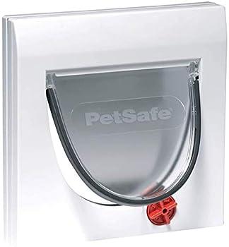 PeSafe - Chatière Classique Staywell 4 options de fermeture Manuel - fermeture magnétique, pour bois, verre, PVC, murs de briques, assemblage facile, résistant aux intempéries, avec tunnel, blanc