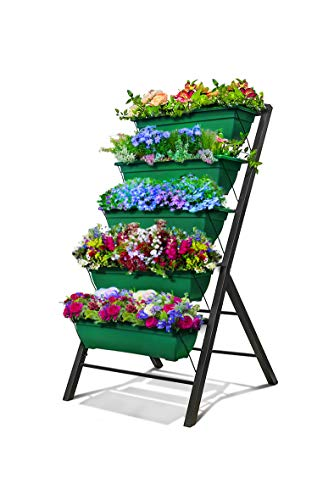4-Ft Raised Garden Bed - Vertical Garden Freestanding Elevated Planters 5...