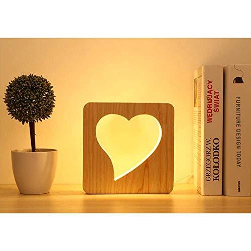 DEJ Hart Led bureaulamp, hart Led Nachtlampje met Hollowed-Out Hart Ontworpen Lamp Lichaam voor het bed, decoratie, geschenk, Valentijn Gift