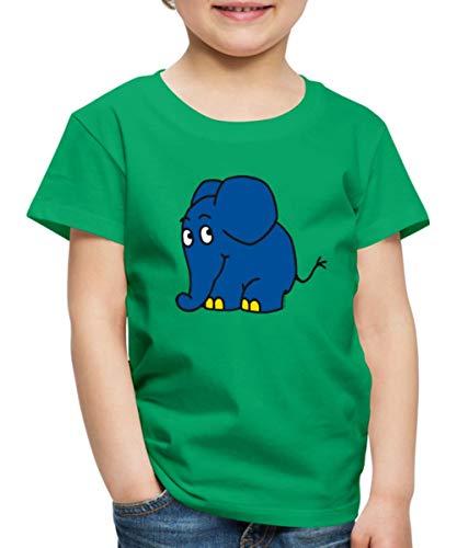 Sendung mit dem Elefanten Kleiner Elefant Kinder Premium T-Shirt, 98-104, Kelly Green