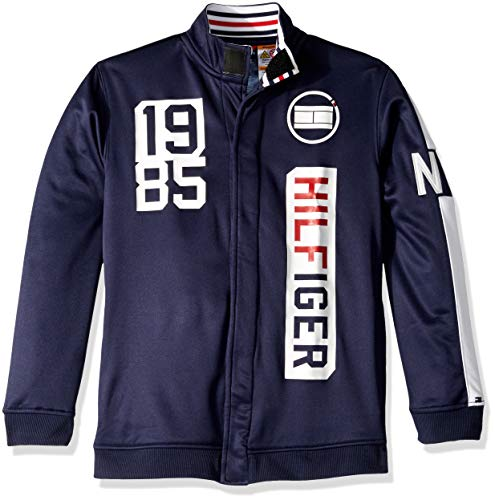 Tommy Hilfiger Boys' Adaptive Track Jacket with Magnetic Buttons, peacoat S