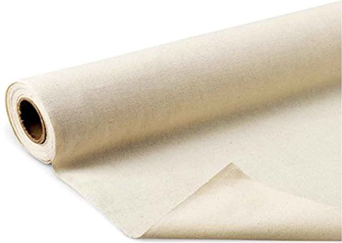 Mybecca Unprimed Cotton Canvas Fabric 10oz Natural Duck Cloth 58'/ 60' Wide, Sold by 5 Yards