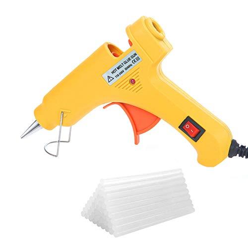 TUT Mini Pistola Colla a Caldo, Pistola Incollatrice con 20 Stick di Colla per Fai da Te per scuola, artigianato e riparazioni veloci in casa 20 W