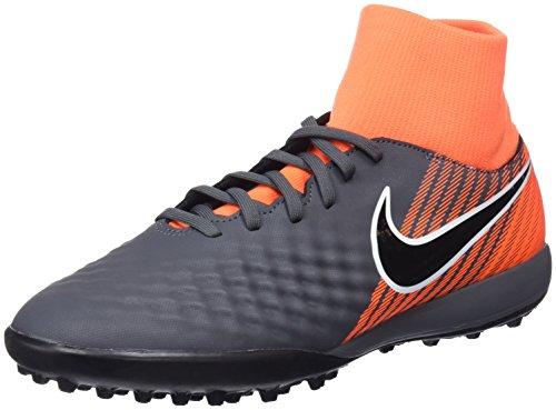 Nike Obrax 2 Academy DF Tf, Scarpe da Calcio Uomo, Grigio (Dark Greyblacktotal Orangew 080), 41 EU