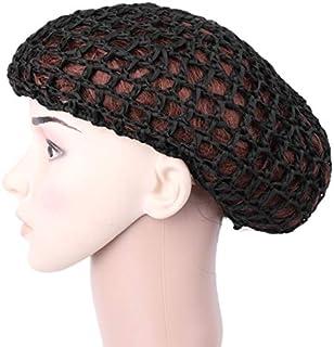 1543952a239e5 Aawsome Cheveux doux au crochet Chapeau écharpe tube en maille filet pour  chignon Housse Sleeping Bonnet