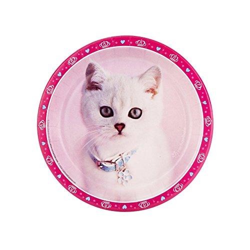 BirthdayExpress Rachael Hale Glamour Cats Party Supplies - Dessert Plates (8)