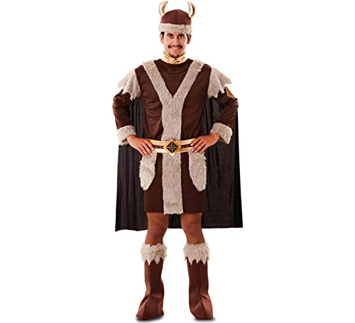 Kostüm Wikinger Mann Odin Abenteurer Seefahrer Fasching Seeräuber Karneval (XXL)