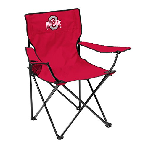 Logo Brands NCAA Ohio State Buckeyes Adult Unisex Adult Quad Chair with Single Cup Holder, Red, One Size