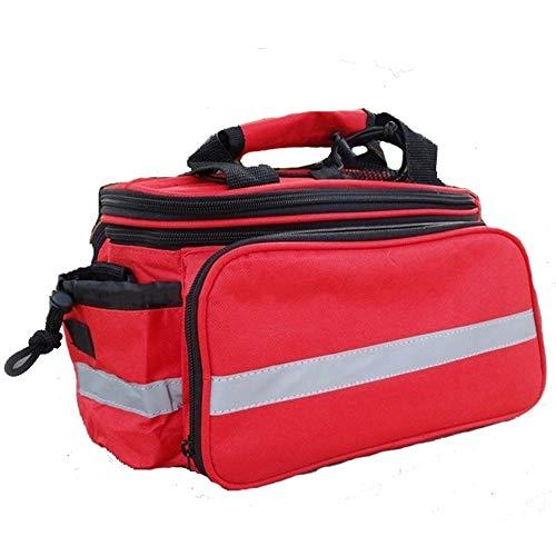WY-AYNG Fahrradsattelsitz Mountainbike-Tasche Skalierbare Fahrradtasche Handtasche Oxford Tuchstoff,Red,32 * 17 * 28cm