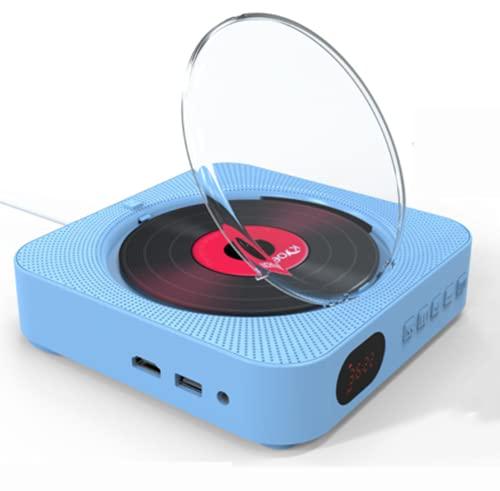 Phil Beauty Montado En La Pared Reproductor De DVD/CD Bluetooth 5.0 Disco U/USB, 10 W Mando A Distancia Inalámbrico, 16,8X3,6 Cm,Azul