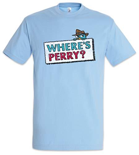 Urban Backwoods Where's Perry Camiseta De Hombre T-Shirt Azul Talla L