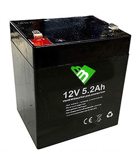 ANFEL Batteria Ricaricabile al Piombo 12V 5.2Ah 5Ah per ups APC Alimentazione di Emergenza Allarme lampade 90 x 70 x 101 mm