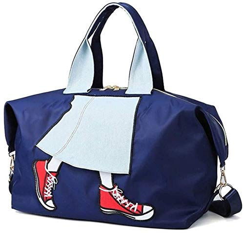 ZOUSHUAIDEDIAN Viajes Duffel Bag-Unisex Fitness Gimnass Bag Portable Sports Swim Travel Touga Bolsa de Asas, Bolsa de Gimnasio Multifuncional, Negro (Color : Blue)