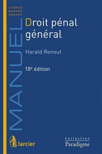 Droit pénal général: Manuel 2013-2014