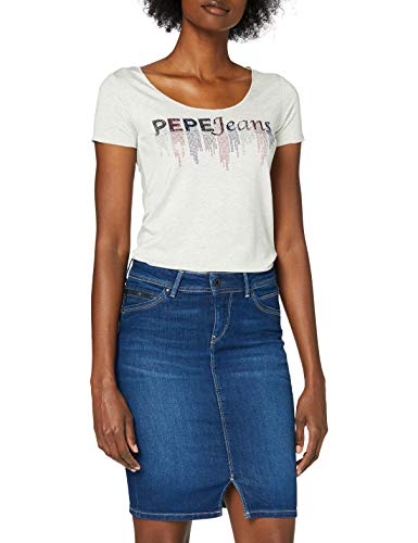 Pepe Jeans Abbey Camiseta, Gris (Grey Marl 933), Large para Mujer