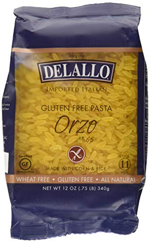 DeLallo Corn and Rice Orzo Pasta 12 Ounces (Pack of 3)