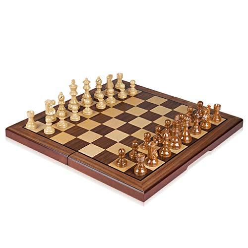 YBYB Ajedrez Ajedrez de Resina Plegable, Juego de ajedrez con Piezas de ajedrez, Piezas de ajedrez de Caballero alemán Staunton, Juego de Tablero de ajedrez de Viaje Juego de Ajedrez