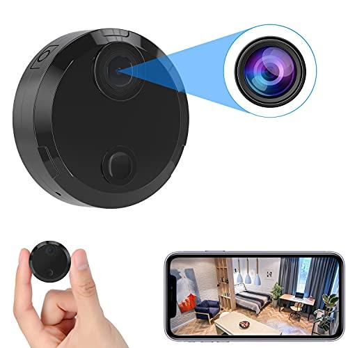 小型カメラ WiFi 4K HD 超小型カメラ スマホ対応Wi-fiマイクロカメラ 長時間録画/録音ワイヤレス監視カメラ...