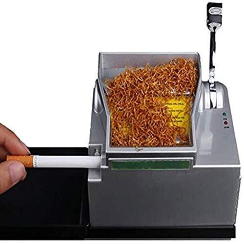 U/K MikrOmatic Duo Zigaretten Stopfmaschine Zeitsparende, praktische und schöne Metallwerkzeuge für Zigarettenspitzen (Color : Silver)