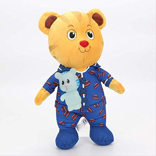 Ylout Juguete de peluche del vecindario del tigre 30Cm, muñeca de peluche de los animales de peluche Daniel Tiger muñeca de peluche juguetes suaves para los regalos de los niños